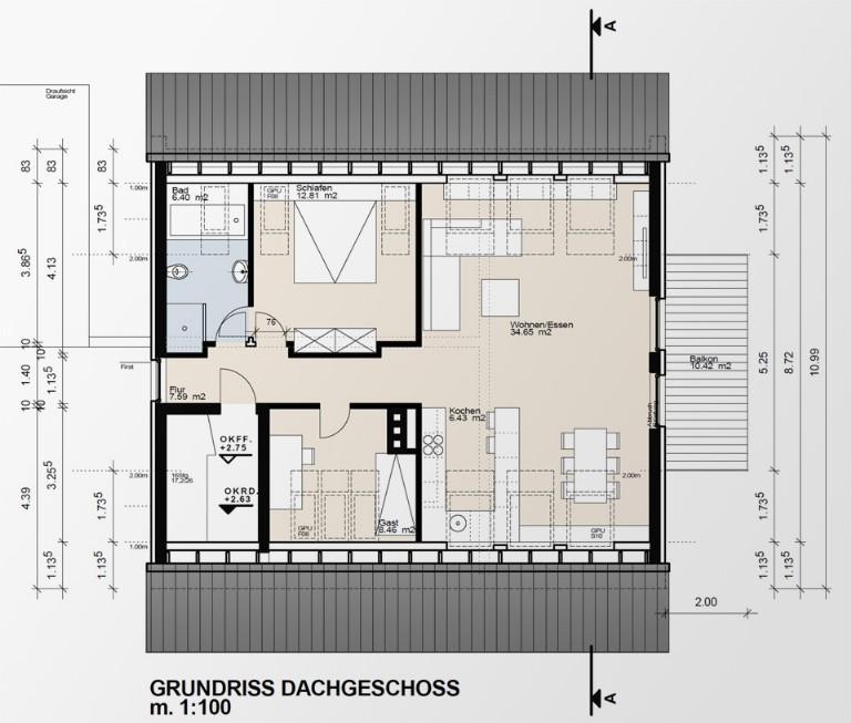 dachgeschossausbau architekturb ro liersch architekt recklinghausen marl herten haltern. Black Bedroom Furniture Sets. Home Design Ideas